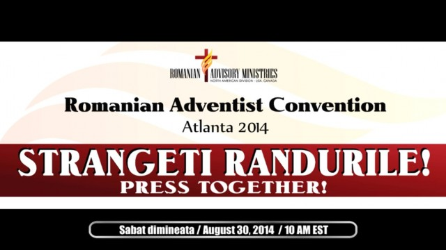 August 30, 2014  –  Sabat dimineata  –  Romanian SDA Convention 2014