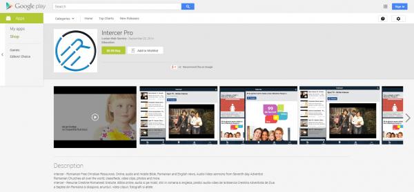 Descarcati App-ul Intercer Pro de la Google Play - pentru Android