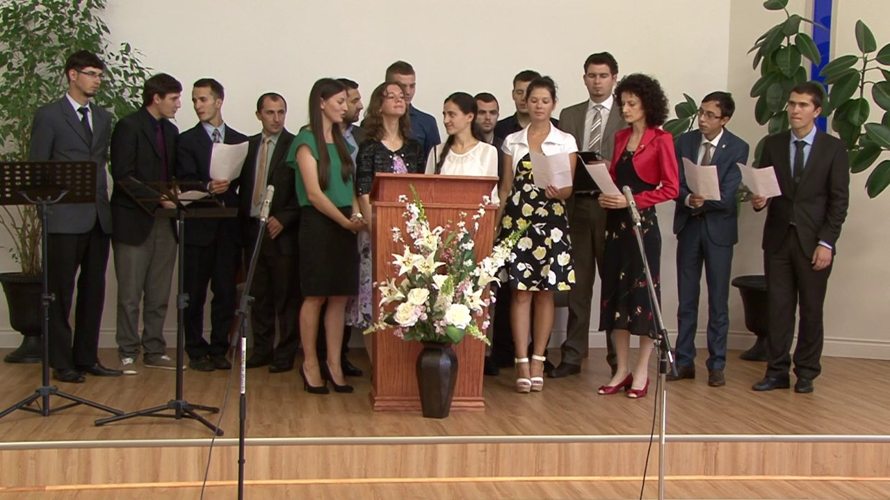 """""""Vino astazi Doamne"""" – Corul studentilor colportori Romani in Canada 2014"""