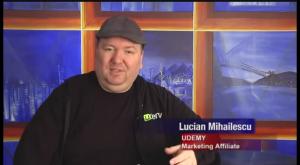 Interviu cu Lucian Mihailescu despre Udemy, la Stirile Rompost Tv din Vancouver, BC, Canada (Subtitluri in Engleza)