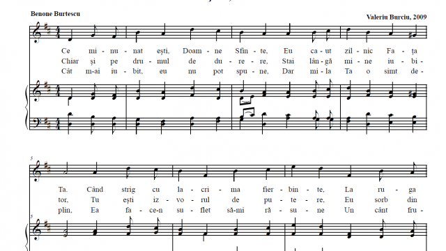 Poezii de Benone Burtescu pe muzica de Valeriu Burciu
