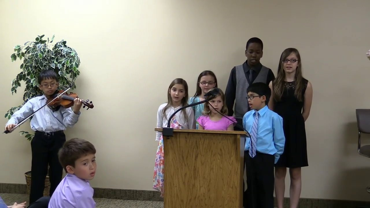 Program muzical sustinut de elevii scolii elementare adventiste din Ann Arbor,Michigan
