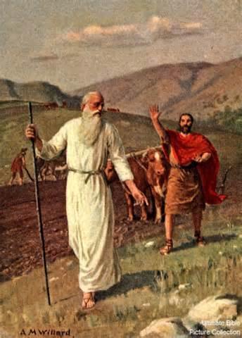 elijah calls elisha-ilie si elisei