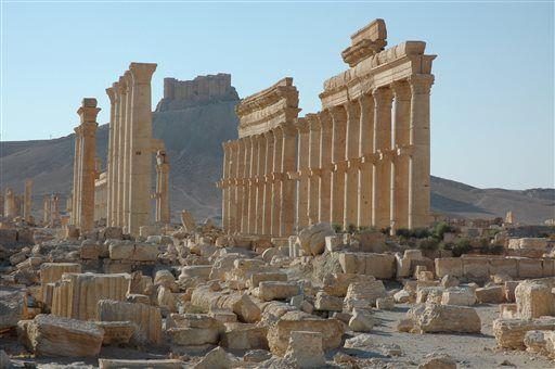 Templul lui Bel in Palmyra Siria distrus in 2015 monument UNESCO