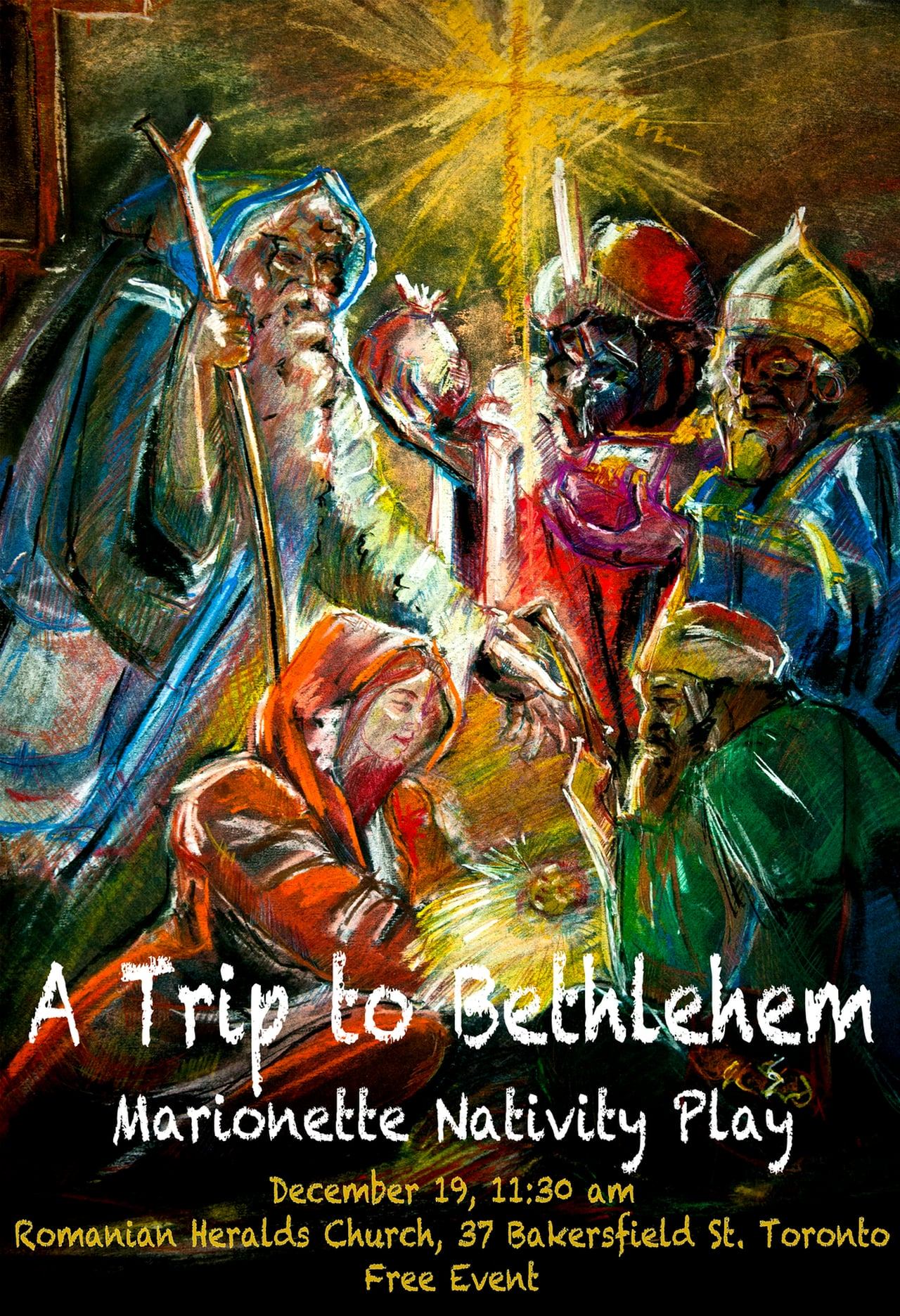 A trip to Bethlehem – Marionette Nativity Play  Dec. 19, 2015