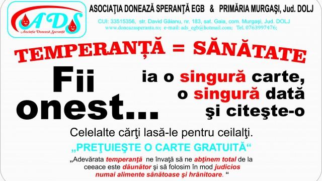 Proiectul Temperanta = Sanatate la Craiova