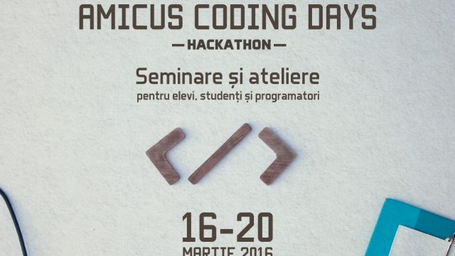 Amicus Coding Days – Stupini, 16 – 20 Martie 2016