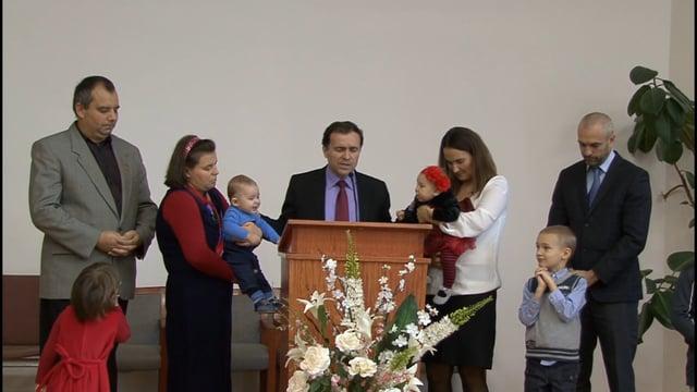 Binecuvintarea copiilor : Evelyne Sarah Dumitrescu si Christian Tianu