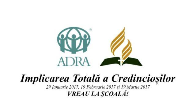 Vreau la școală! – un proiect ADRA de prevenire a abadonului școlar susținut la nivel național de către Biserica Adventistă de Ziua a Șaptea