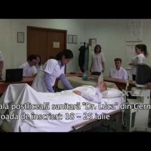 """Admitere la Scoala postliceala sanitara """"Dr. Luca"""" din Cernica"""