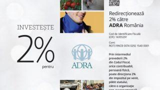 Redirecționează 2% către ADRA România! 460 de copii vor primi lunar sprijin în procesul educațional