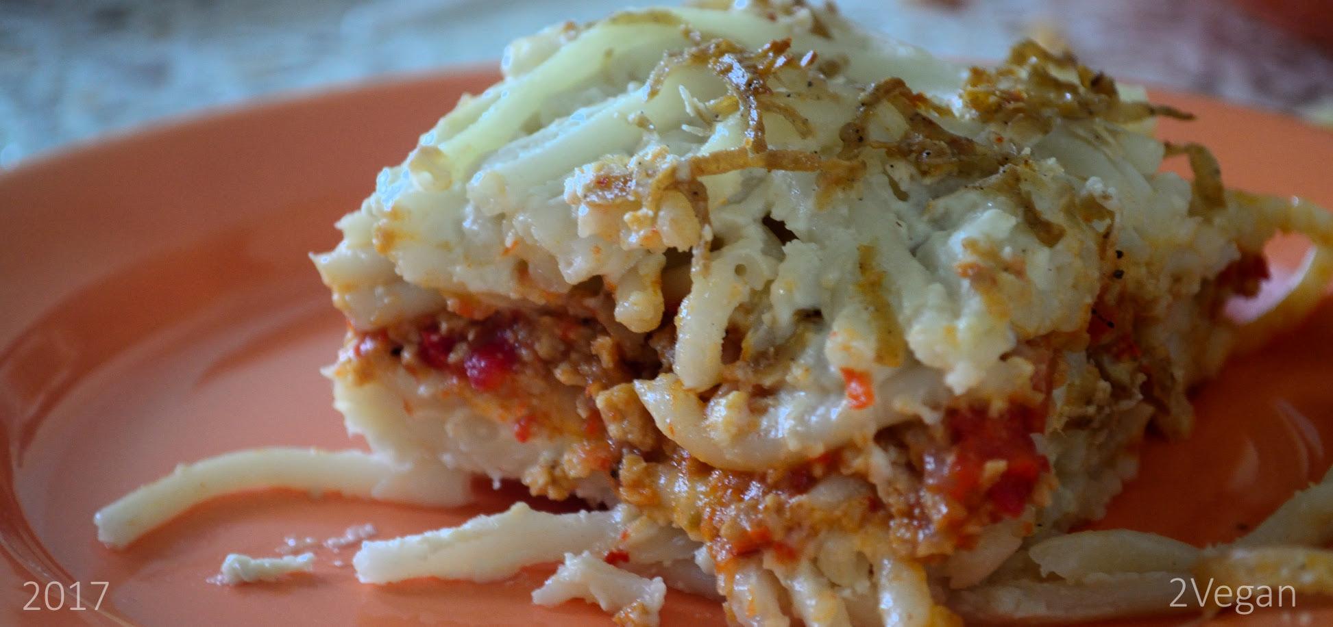 Lasagna vegană