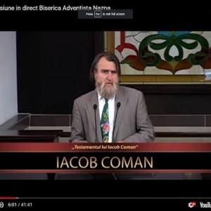 """,,Testamentul lui Iacob Coman"""" (13.6.2018)"""