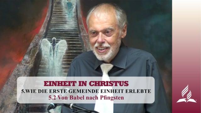 5.2 Von Babel nach Pfingsten – WIE DIE ERSTE GEMEINDE EINHEIT ERLEBTE | Pastor Mag. Kurt Piesslinger