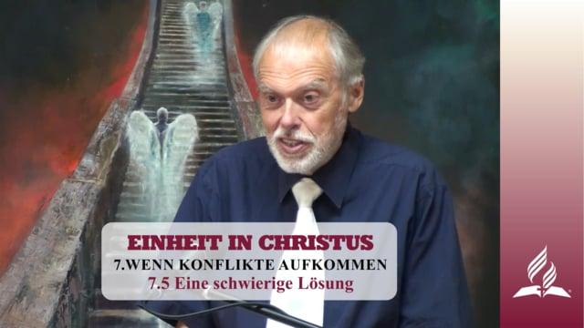 7.5 Eine schwierige Lösung – WENN KONFLIKTE AUFKOMMEN | Pastor Mag. Kurt Piesslinger