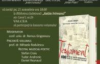 Rm.Valcea – Lansare de Carte – Testament 400 de ani de poezie românescă, 21 Nov 2019