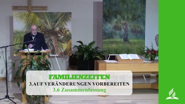 3.6 Zusammenfassung – AUF VERÄNDERUNGEN VORBEREITET | Pastor Mag. Kurt Piesslinger