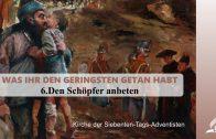 6.DEN SCHÖPFER ANBETEN – WAS IHR DEN GERINGSTEN GETAN HABT | Pastor Mag. Kurt Piesslinger