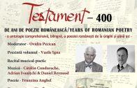 CLUJ Lansare de Carte – Testament 400 de ani de poezie românescă, găzduit de Daniel Ioniță și Cătălin Condurache, 20 Nov 2019